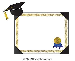 nappa, berretto, università, diploma