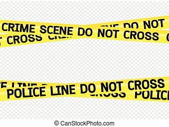 nastri, scena crimine, illustrazione, pericolo