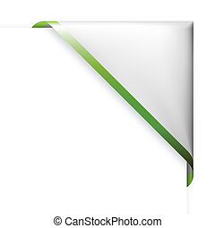 nastro, bordo, angolo, verde bianco