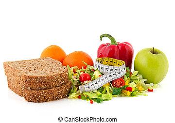nastro di misura, pasto, dieta