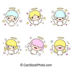 natale, angelo, collezione, carino