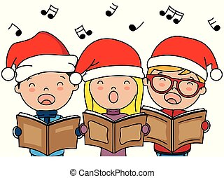 natale, canto, bambini, canzoni