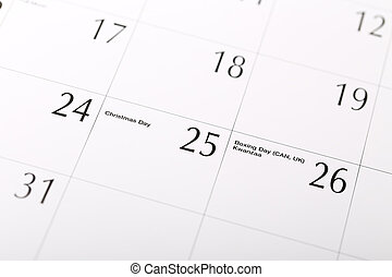 natale, data, calendario