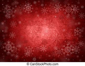 natale, sfondo rosso, ghiaccio