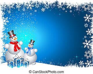natale, snowmen, regali