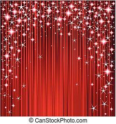 natale, strisce stelle, disegno