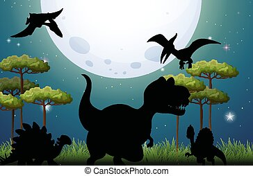 natura, dinosauro, fondo