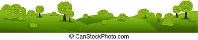 natura, isolato, sfondo verde, bianco, paesaggio