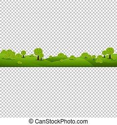 natura, isolato, sfondo verde, trasparente, paesaggio