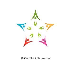 natura, persone, vettore, salute, sagoma, logotipo