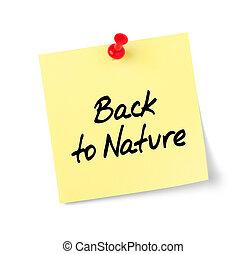 natura, testo, indietro, nota gialla, carta