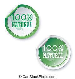 naturale, 100%, adesivi