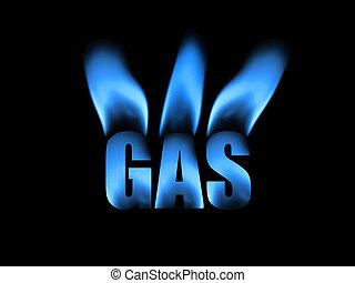 naturale, astratto, gas