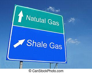 naturale, -, gas, argillite, segno, strada