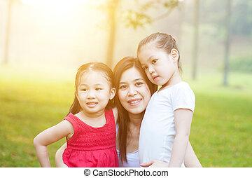 nature., figlie, madre