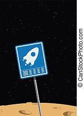 nave, spazio, segno