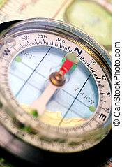 navigational, topografico, bussola, mappa