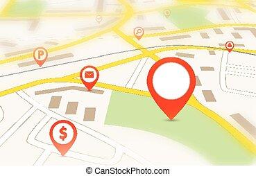 navigazione, mappa