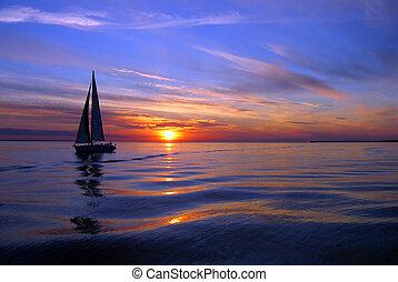 navigazione, mare, colorare