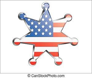 nazionale, medaglia, bandiera, stati uniti