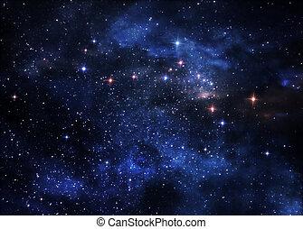 nebulae, profondo, spazio