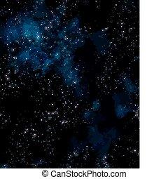 nebulosa, esterno, stelle, spazio