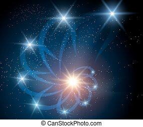 nebulosa, fondo, galassia