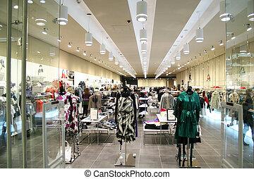 negozio, femmina, vestiti
