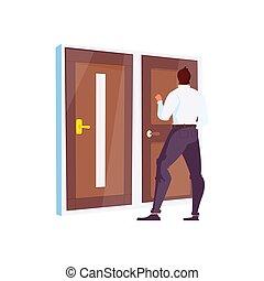 negozio, illustrazione, porta