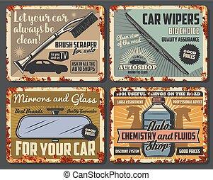 negozio, parti, auto, accessori, automobile, automobile