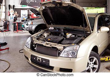 negozio, riparazione automobile