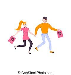 negozio, sesso, illustrazione