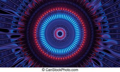 neon, 4k, fondo, astronave, scuro, uhd, 3d, luce, illustrazione, alienato