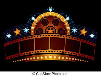 neon, cinema
