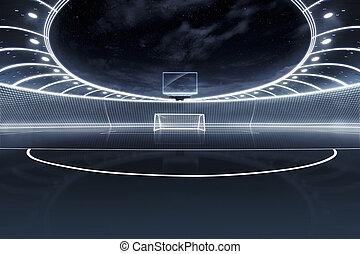 neon, stadio