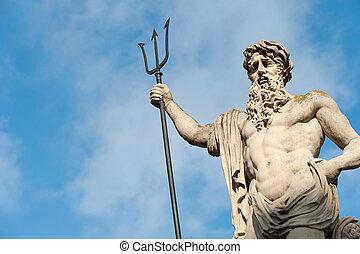 neptun, statua