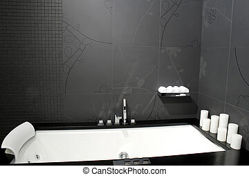nero, 2, vasca bagno