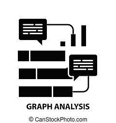nero, analisi, illustrazione, segno, editable, colpi, grafico, icona, vettore, concetto