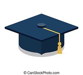 nero, berretto, disegno, graduazione