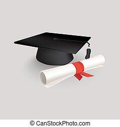 nero, berretto, graduazione