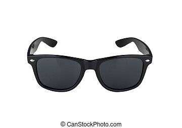 nero, bianco, occhiali da sole, isolato