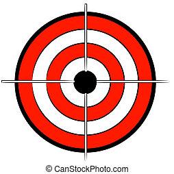 nero, bullseye, bersaglio, bianco rosso