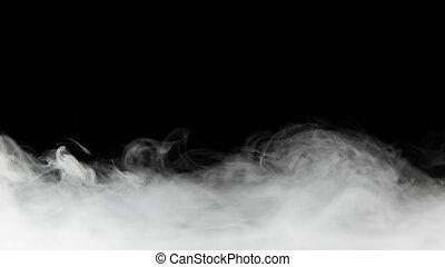 nero, fondale, denso, isolato, fumo