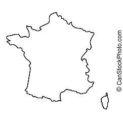 nero, francia, mappa, astratto