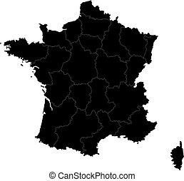 nero, francia, mappa