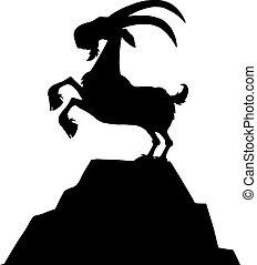 nero, goat, silhouette