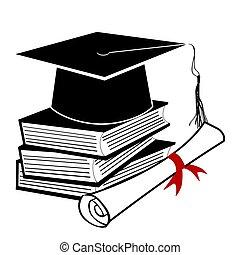 nero, graduazione, fondo