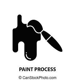 nero, illustrazione, segno, editable, colpi, vernice, icona, processo, vettore, concetto