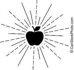 nero, mela