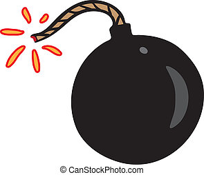nero, poco, bomba, scintilla